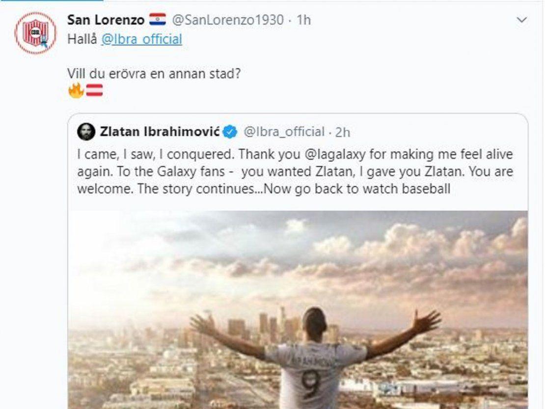 San Lorenzo le tira un centro a Zlatan - ÚltimaHora.com
