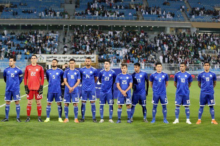 Equipo de Paraguay que disputó el amistoso contra Arabia Saudita.