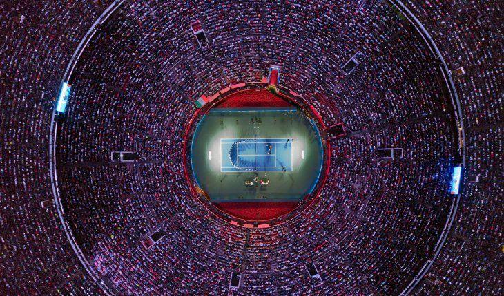 Imponente. La plaza de Toros de México estuvo al tope de su capacidad para ver a Federer.