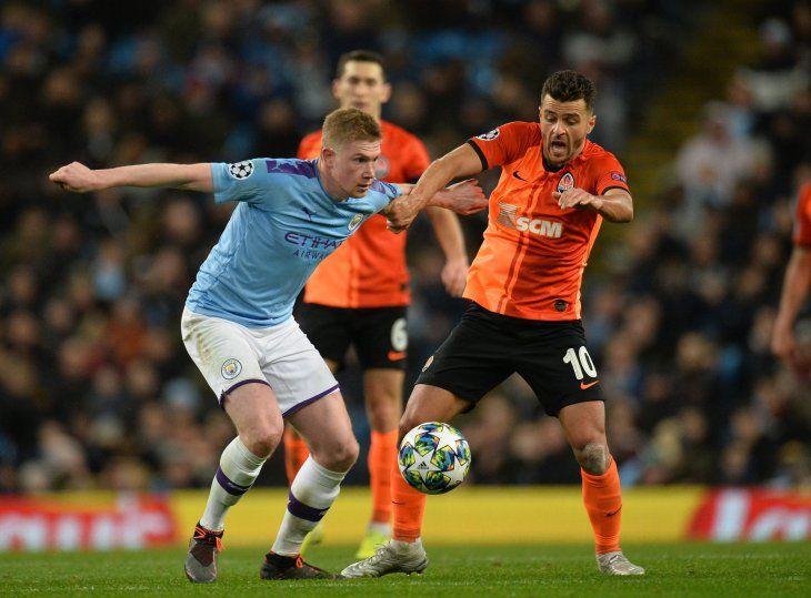 El Manchester City no pasó del empate ante elShakhtar Donetsk.