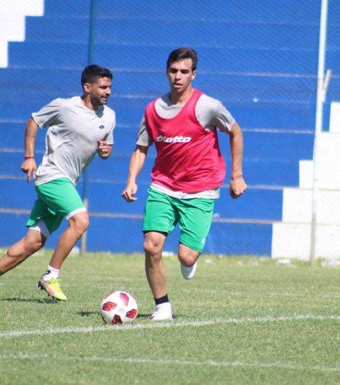 Pablo Zeballos entrenando en el 12 este lunes.