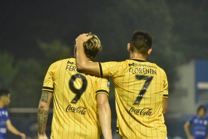 Goleadores. Fernández y Florentín marcaron los tantos de Guaraní.