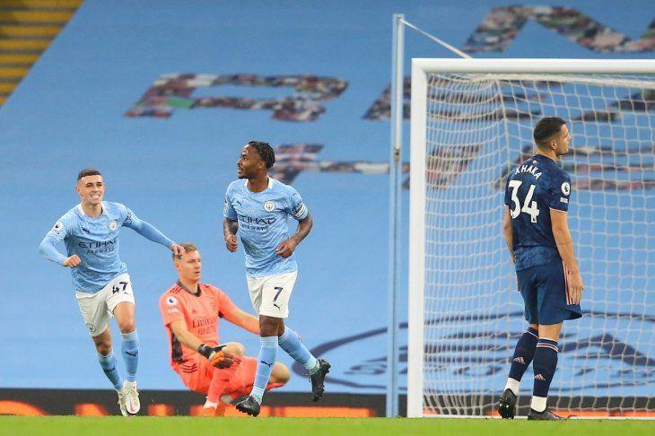 El City venció por la mínima al Arsenal.
