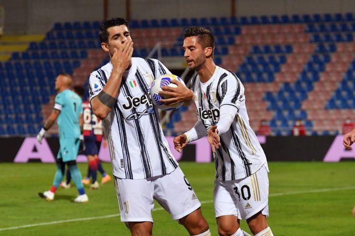Morata marcó para Juventus este sábado.