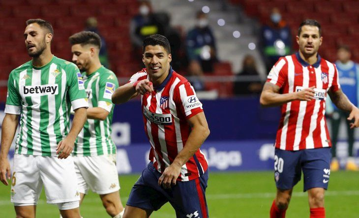 Luís Suárez volvió a marcar para el Atlético.