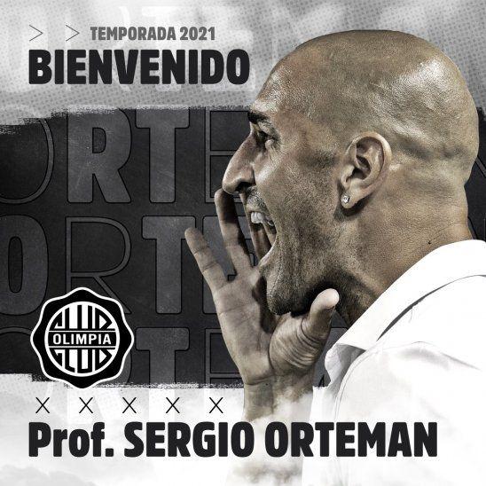 Olimpia anunció la llegada de Sergio Orteman.