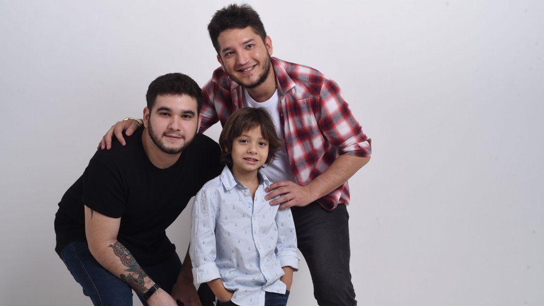 ¡Junior Rodríguez posó feliz con sus hijos Nacho y Rubencito!
