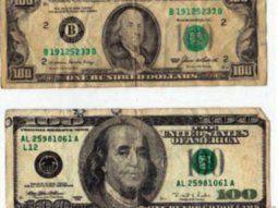 Series antiguas. Los billetes de 100 dólares cara chica son  rechazados por los bancos. Los mismos billetes son aceptados en el mercado informal, pero a un precio menor.