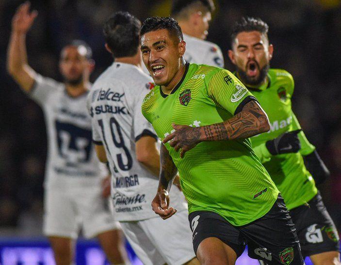 Darío Lezcano fue elegido la figura del partido en el empate 4-4 de Juárez ante Pumas.