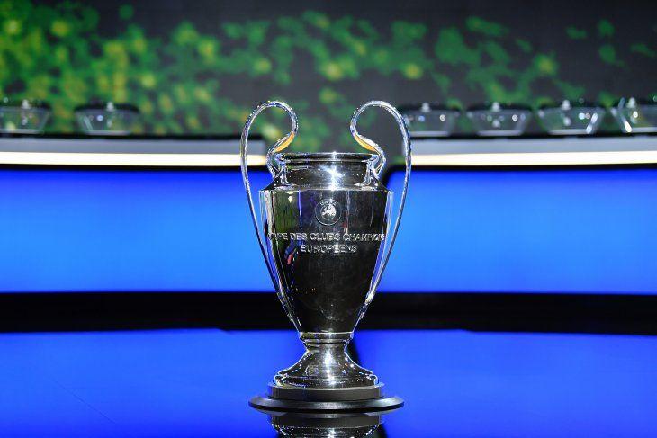 El trofeo de la UEFA Champions League.