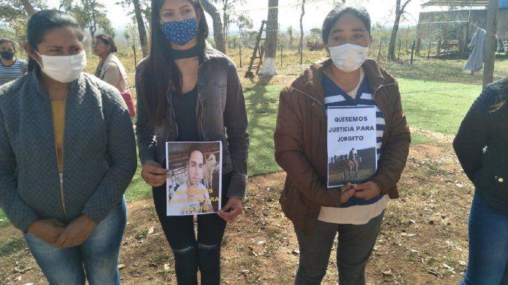 Los familiares y amigos exigieron justicia por el asesinato de Jorge Ríos.
