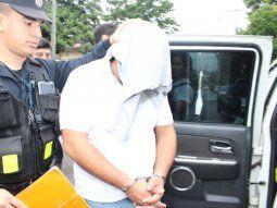 El suboficial inspector Óscar Federico Valdez, quien fue detenido este lunes y prestó declaración indagatoriaeste martes ante la fiscala Lorena Ledesma.