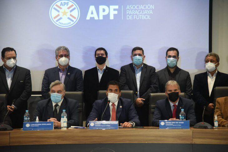 La APF y la conferencia de prensa sobre el potencial riesgo que corre el contrato de derechos de TV.