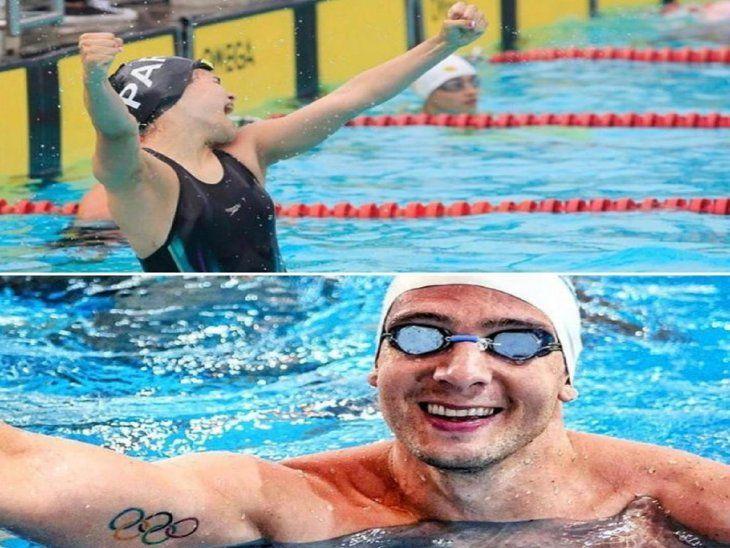 Benjamín Hockin y Luana Alonso representarán a Paraguay en la natación de los Juegos Olímpicos de Tokio.