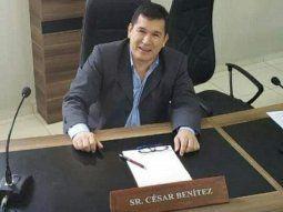 El concejal César Darío Benítez, de 53 años, falleció en el  Hospital Integrado Respiratorio del Ministerio de Salud y el Instituto  de Previsión Social (IPS) en Ciudad del Este.