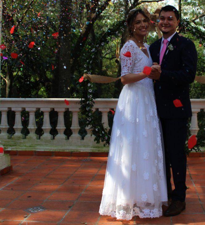 Alegres. Liz Marina y Almides Iván disfrutaron de una tarde cargada de emociones en la Quinta de la Ribera