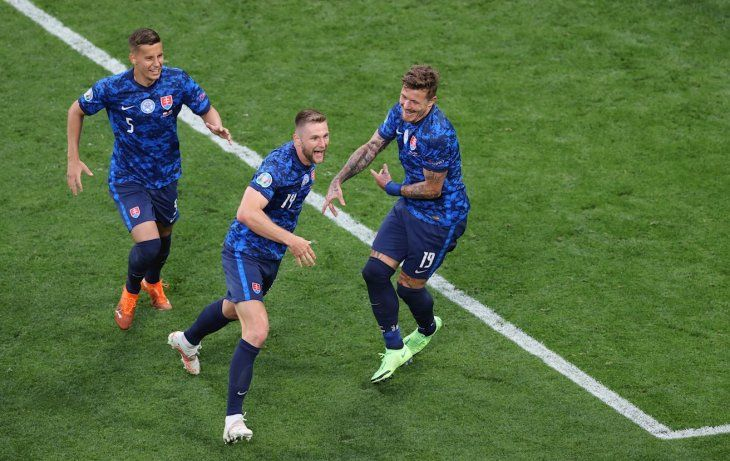 Eslovaquia derrotó a Polonia.