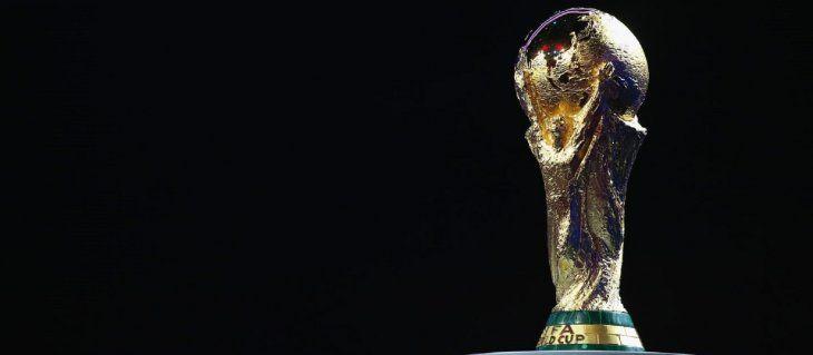 Imagen del trofeo de la Copa del Mundo.