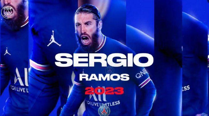 Sergio Ramos es nuevo jugador del PSG.