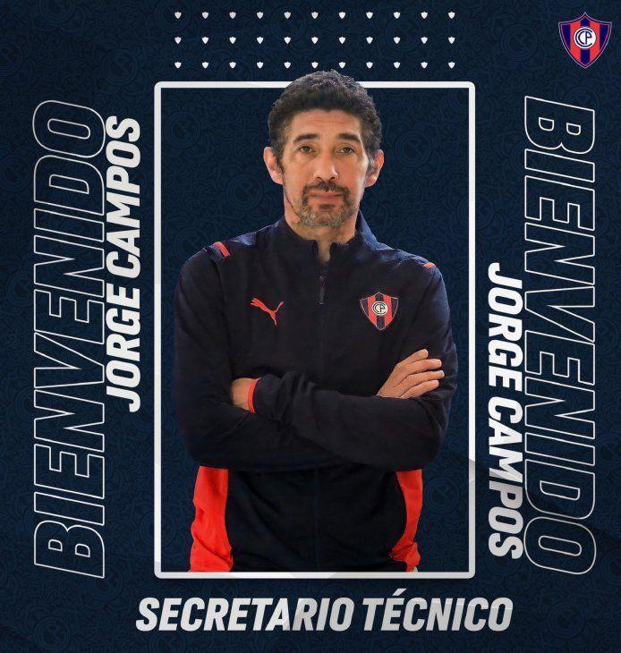 Jorge Campos asume como nuevo Secretario Técnico de Cerro Porteño.