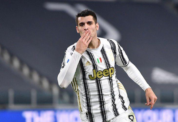 Morata marcó dos goles para Juventus.