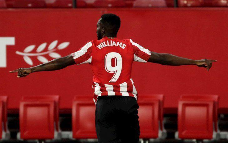 Iñaki Williams le dio el triunfo al Bilbao sobre Sevilla.