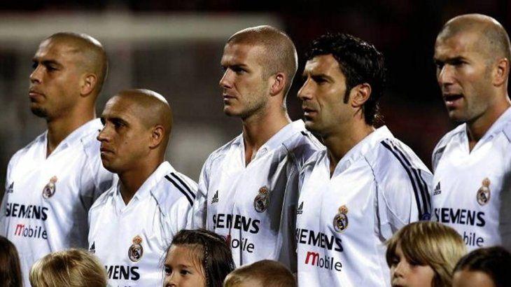 Los Galácticos del Real Madrid de Florentino Pérez.