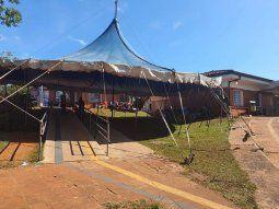 La estructura del recordado Circo Eguino Bross volvió a erigirse luego de 4 décadas, esta vez para proteger a los familiares de los enfermos de Covid-19 del departamento de Itapúa.
