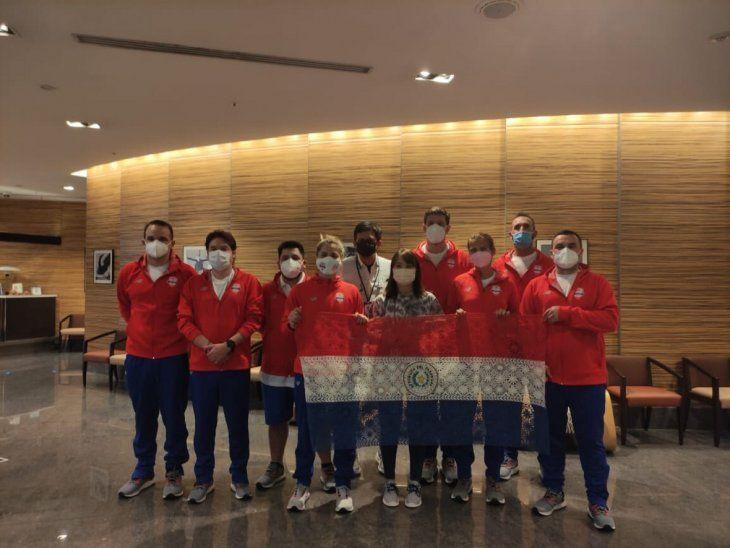 En la sede. Parte de la delegación ya está en Japón para participar de los Juegos Olímpicos de Tokio 2020.