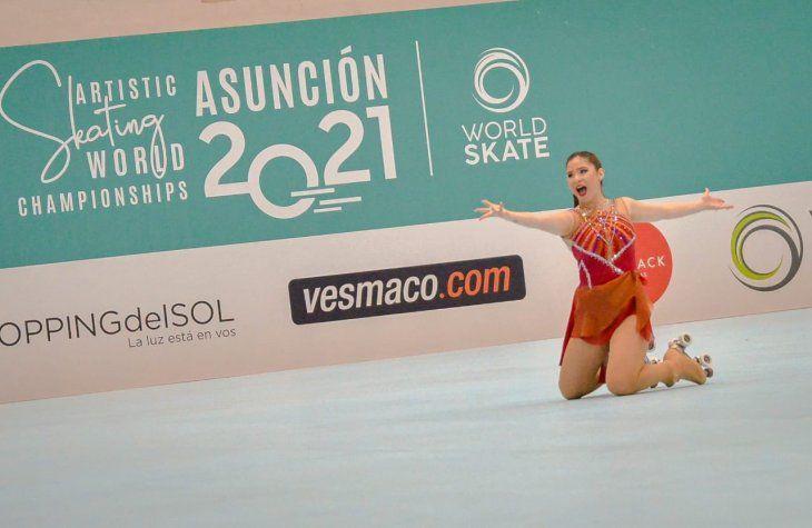 Alto nivel. María Sophia Veiluva durante las pruebas. Tanto María Sophia como Erika Alarcón cumplieron su participación