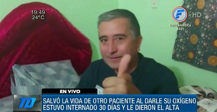 El docente Gilberto Alvarenga