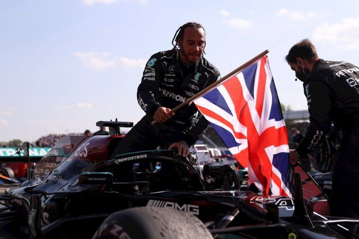 Lewis Hamilton ganó el Gran Premio de Gran Bretaña.