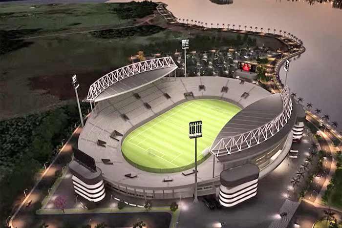 Así era el proyecto de estadio de Villa Alegre de Encarnación, según difundió la EBY.