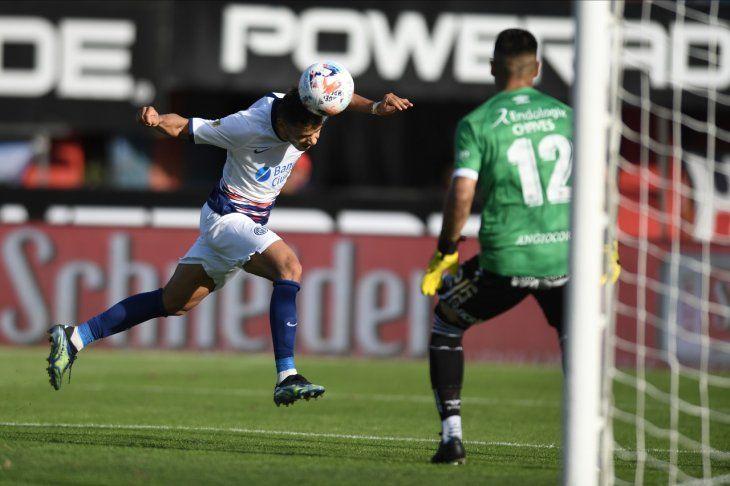 Ángel Romero anotó para San Lorenzo ante Argentinos Juniors.