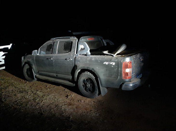 La camioneta fue interceptada por la FTC en la zona de Bella Vista Norte Departamento de Amambay.