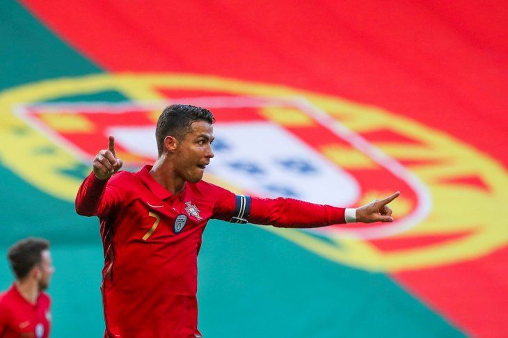 Cristiano Ronaldo marcó uno de los goles de Portugal.
