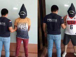 Leyder Hernán Salazar Ruíz, de 45 años, de nacionalidad colombiana, y  José Antonio Fandiño Hidalgo, de 23 años, de nacionalidad venezolana, fueron detenidos por la Policía Nacional.