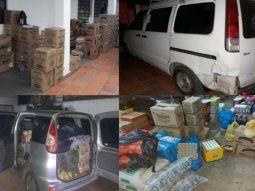 En el marco de la lucha anticontrabando que lleva adelante la Dirección  Nacional de Aduanas, se persiguió a dos vehículos y  se incautaron varias mercaderías.