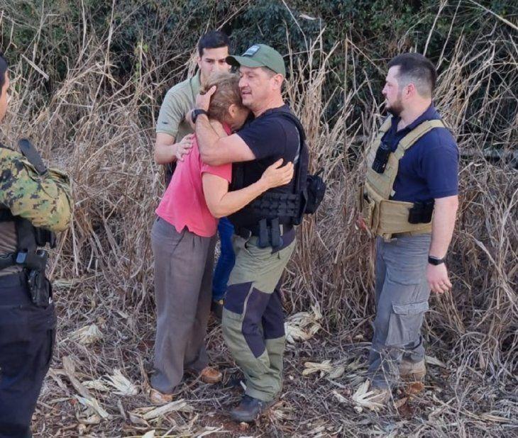 Sandra Cristina Máceda Rubert fue rescatada en la tarde de este martes por agentes del Departamento de Antisecuestros de la Policía Nacional.