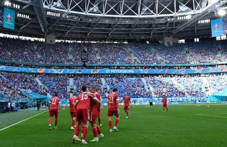 Rusia festejó en San Petersburgo.