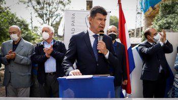El presidente de los liberales, Efraín Alegre, reelegido el mes pasado, fue uno de los presentes en el acto de celebración del aniversario de fundación del Partido Liberal Radical Auténtico.