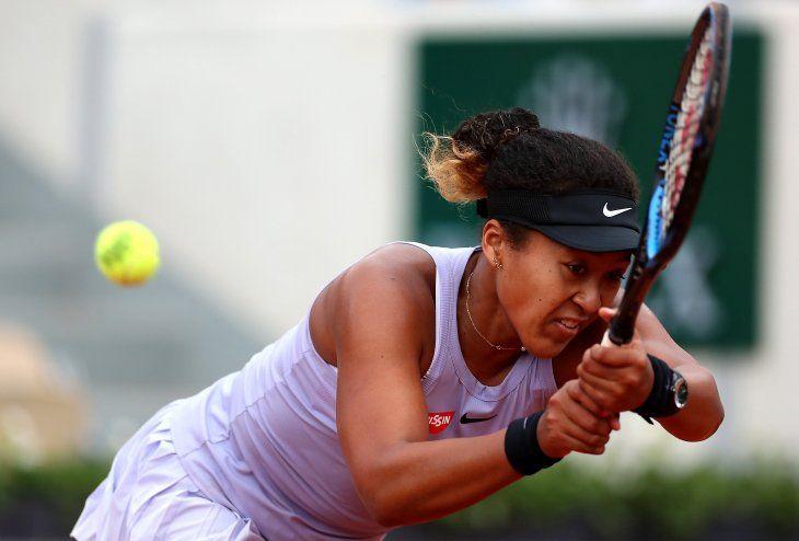 Naomi Osaka en un partido de Roland Garros.