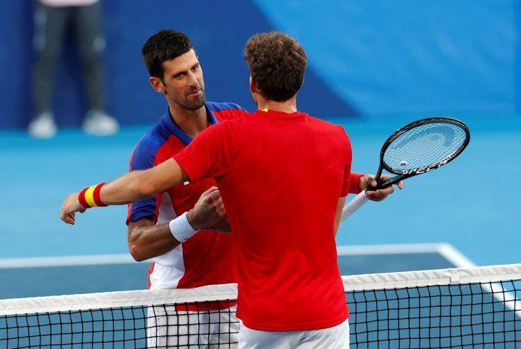Novak Djokovic perdió ante Pablo Carreno.