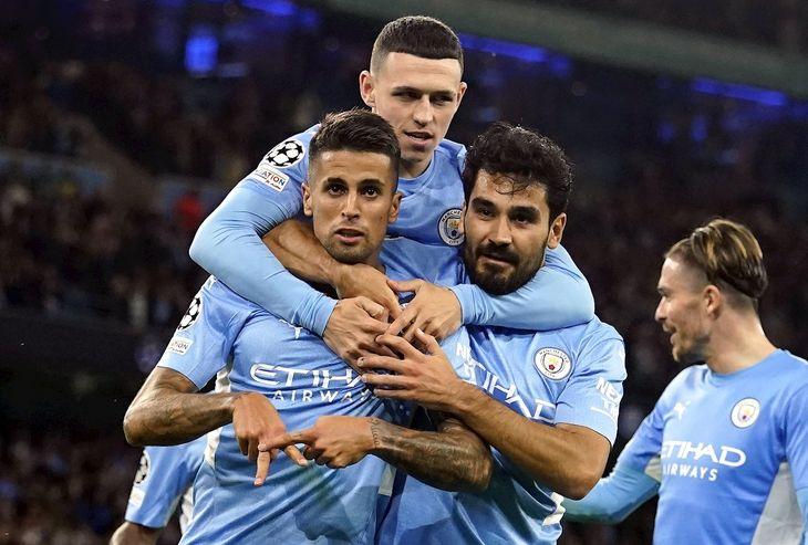 El Manchester City goleó al Leipzig.