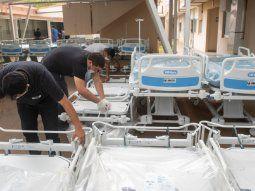 En la sala de internación común, que ahora será utilizada  como Unidad de Terapia Intensiva (UTI), incorporarán unas 16 camas, para  albergar a pacientes conCovid-19.