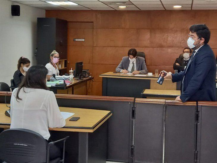 SIN MEDIOS. En una de las audiencias orales que se realizaron en el Palacio de Justicia
