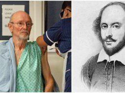 Una presentadora de televisión confundió al primer vacunado en Reino Unido contra el covid-19, William Shakespeare, con su célebre homónimo, el autor de obras clásicas de la literatura inglesa.