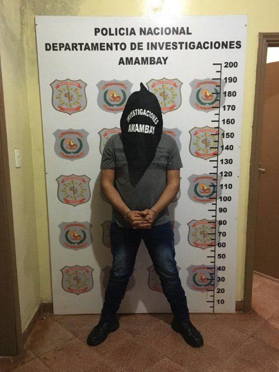 El detenido quedó a disposición del Ministerio Público en Amambay.