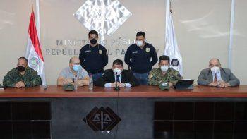 Las autoridades realizaron una conferencia de prensa en la mañana de este lunes, para brindar detalles de la captura del supuesto integrante del autodenominado Ejército del Pueblo Paraguayo (EPP).