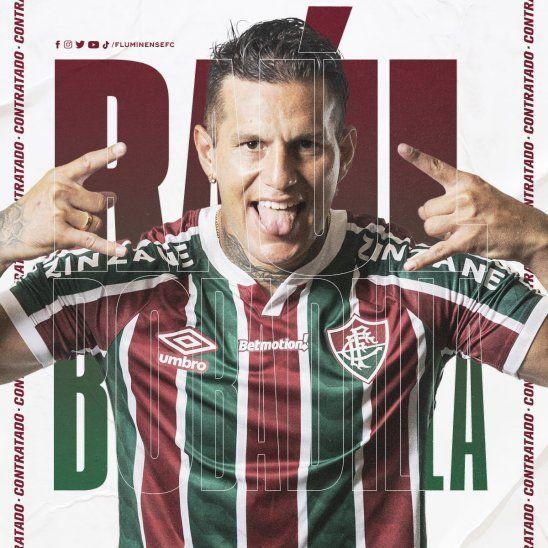 Raúl Bobadilla fue presentado en el club brasileño Fluminense.